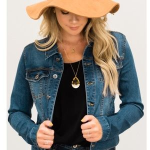 Faded wash jeans jacket long sleeve women's